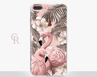 Flamingo iPhone 8 Case Clear - Clear Case - For iPhone 8 - iPhone X - iPhone 7 Plus - iPhone 6 - iPhone 6S - iPhone SE Transparent Samsung