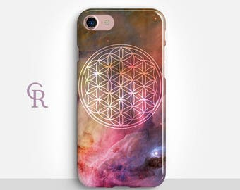 Flower of Life iPhone 8 Case For iPhone 8 iPhone 8 Plus - iPhone X - iPhone 7 Plus - iPhone 6 - iPhone 6S - iPhone SE - Samsung S8 iPhone 5