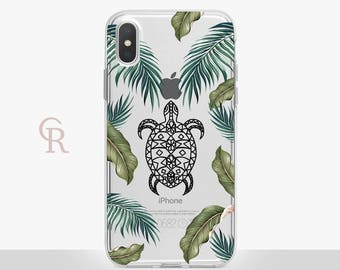 Turtle iPhone X Clear Case For iPhone 8 iPhone 8 Plus - iPhone X - iPhone 7 Plus - iPhone 6 - iPhone 6S - iPhone SE - Samsung S8 - iPhone 5