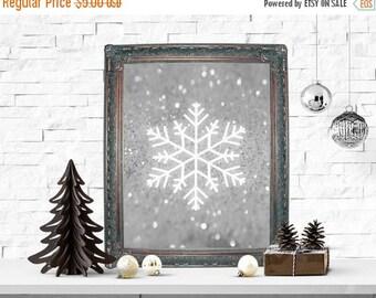 SALE Snowflake Print, Holiday Print, Christmas Art Print, Snowflake Christmas Decor, Holiday Wall Decor, Wall Poster, Christmas Decor, Home