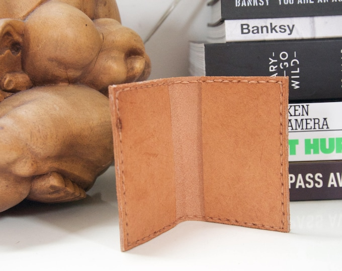 Hand made leather creditcard holder