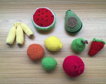 Crochet Play Food  Fruit Kit