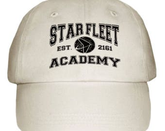 Star Trek Star Fleet Academy Cap / Hat With Logo On New One Size Gift Sci-Fi L+K - Made to Order - One Supplied