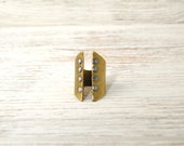 Corset Ring-Hammered Brass