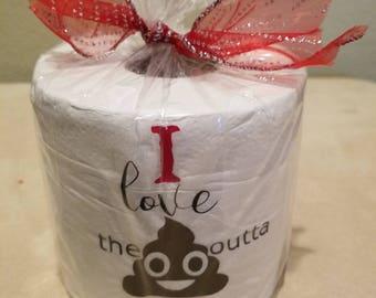 Valentine Toilet Paper Gag Gift