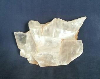 Crystal Selenite Slab // Healing Selenite Crystal // Raw Selenite // Crystal Clearing Slab // Crystal Home Decor // White Selenite Stone
