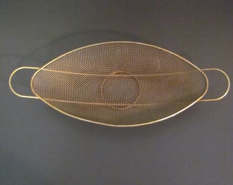 Cool Elliptical Brass Wire Mesh Basket