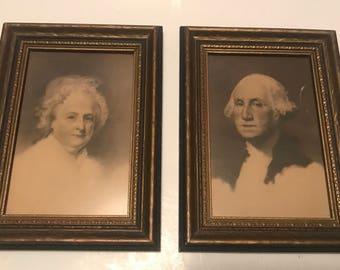 George and Martha Washington prints