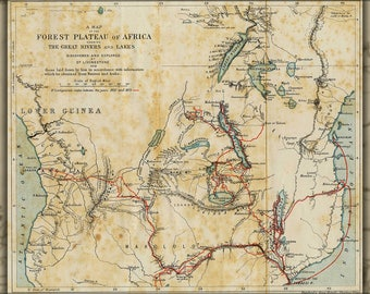 Poster, Many Sizes Available; Map Of The Travels Of David Livingstone In Africa 1873