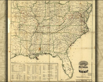Poster, Many Sizes Available; Historical War Map 1862 Civil War