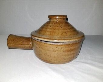 Vintage Pottery Soup Bowl, Stoneware Bowl, Bean Pot with Lid,Bean Crock,Soup Tureen,Stoneware Pot,Chili Pot,Earthenware,Casserole