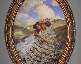 Victorian  art print on canvas .