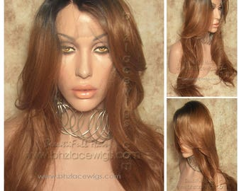 Danity lace wig Two Tone Dark Roots Auburn lace front wig Lace Front wig lace wig Kardashian lace wig drag queen lace wig