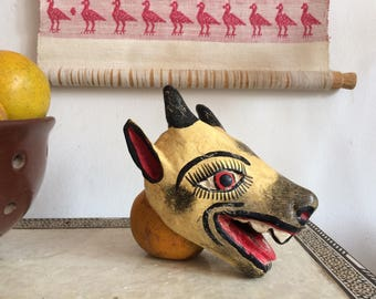 Mexican animal wooden mask.