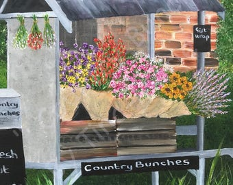 Country Bunches - Giclee Print