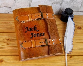 Personalized Leather Journal, A5 Handmade Leather Journal, Vintage Journal, Diary, Notebook, Brown leather Journal, Gift TiVergy Journal