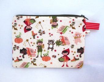 Little Riding Hood red pouch - makeup, tidies up purse, school, documents or your needs