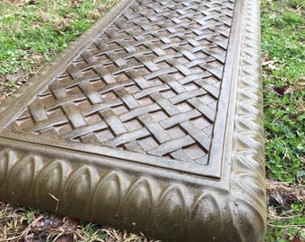 Concrete bench mold Basket Weave top with Arch Leg Molds Full 3 pc set.