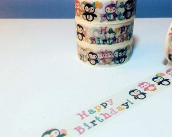 30% OFF ENTIRE STORE Happy Birthday Penguins, Washi Tape