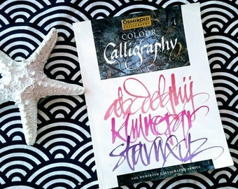 Colour calligraphy manual book by Barbara Bundy UK