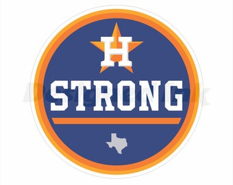 Houston Strong Round Decal in Three Sizes