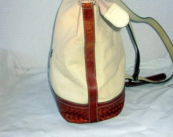 vintage medium sz creme and brown italian leather purse BALLY lable