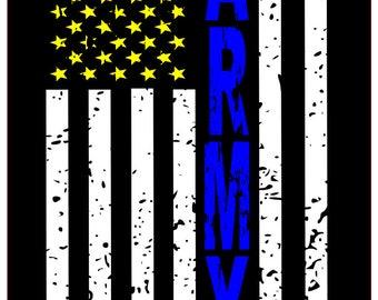 Army distressed flag SVG File, Quote Cut File, Silhouette File, Cricut File, Vinyl Cut File, Stencil
