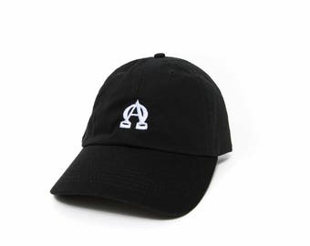 Alpha Omega Hat Dad Hat Embroidered Hat Adjustable Baseball Cap Black