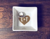 Trending Now - Personalized Engagement Ring Dish | Engagement Gift | Ring Holder | Engagement Gift | Engagement Ring Holder | Jewelry Dish