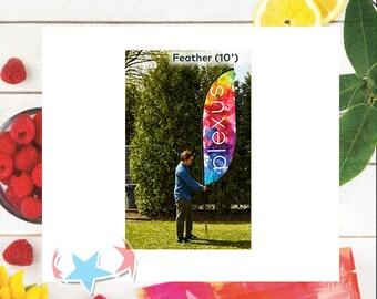 Plexus Feather Flag 10ft l Water Color l Boutique Advertising flag <Digital Download>