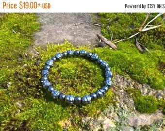 SALE Mens Hematite Beaded Bracelet, Buddha Bracelet, Gift for Him, Yoga Bracelet, Chakra Balance Bracelet, Gift for Yogi, Mala Beads Bracele