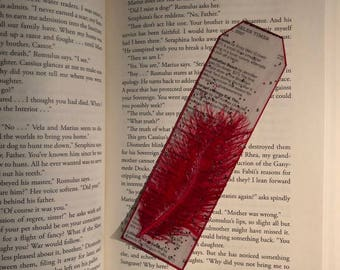 """Newspaper """"Feather"""" Bookmark"""