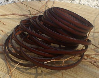 flat leather 5mm by 20 cm high quality