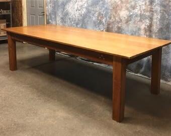 8u0027 Quarter Sawn Oak Library Harvest Tables Convent Kitchen Island Counter  Top B