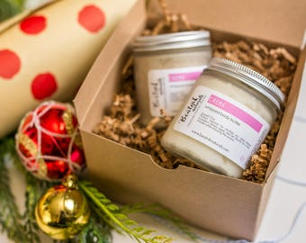 Christmas Gift - Bath and Body Gift Set - Spa Gift Box - Gifts for Her - Spa Gift Basket - Organic Skincare - Gifts Under 50