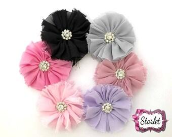 "2.5"" - 2.7"" Chiffon Lace Flower, Ballerina Flowers, DIY Flowers, No Clip Flowers, Headband Flowers, Flower Headband Supplies"