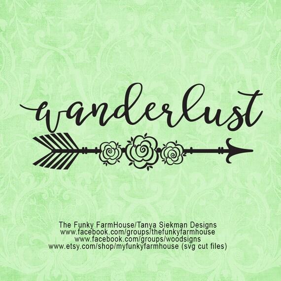 """SVG & PNG - """"Wanderlust"""""""