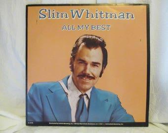 Slim Whitman All My Best Record LP Album