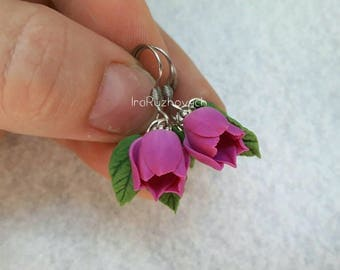 tulip flower  earrings