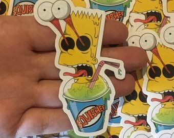 The Simpsons Sticker ((Bart Squishee))