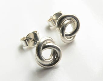 Earrings silver node