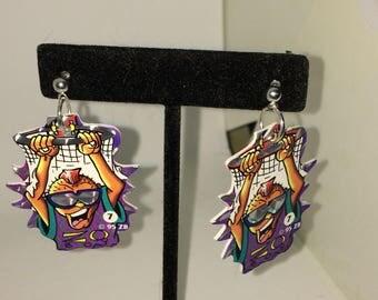 Basketball pog earrings