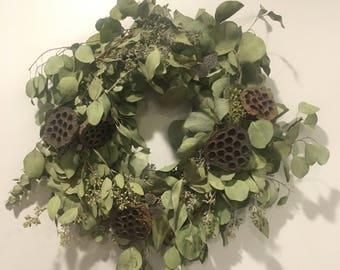 """Live Eucalyptus wreath 19"""""""