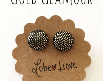 Gold Glamour Fabric Earrings