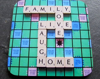 Set of 6 Matching Scrabble Coasters