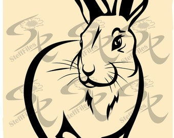 Vector RABBIT animals,SVG,DXF,eps,ai,png,jpg,Silhouette,clipart,Digital images, graphical
