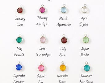 Add On A Charm, Add On A Swarovski Crystal Birthstone Charm, To Almost Any Of My Listings, Silver Or Gold Personalised Birthstone Jewelry