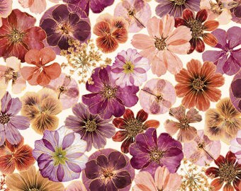 Dried Flowers / custom fabric