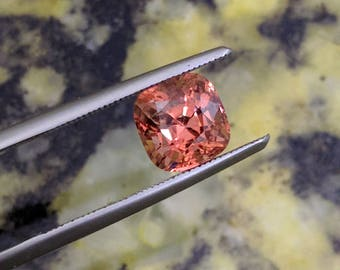 1.69Ct Padparadscha Color Cushion Cut Spinel from Luc Yen Vietnam