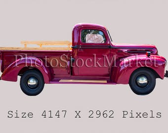 Old Pickup Truck Etsy